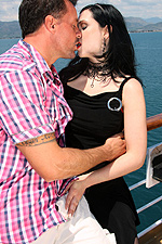 Angell Summers gets double penetrated on the deck of a cruise ship from Private
