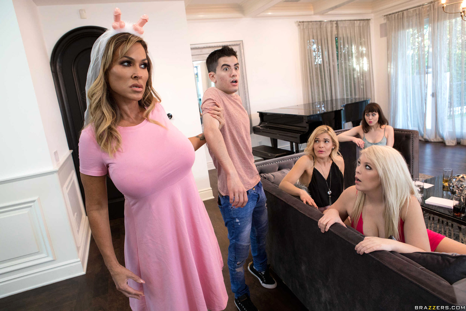 aubrey black fucks her stepson at her bachelorette party