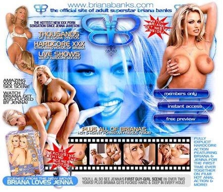 See Briana Banks get Ass-fucked by Jenna Jameson at brianabanks.com - Official website NOW OPEN!!!