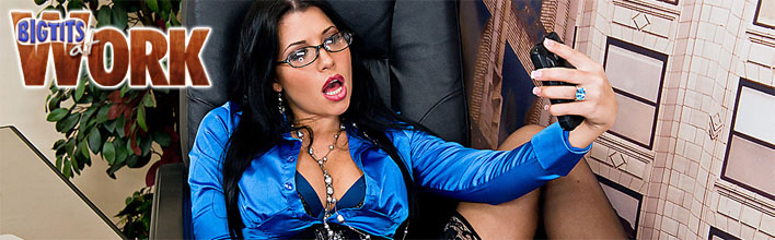Rebeca Linares puts her tits and pussy to work in the office. Click Here to watch the full scene at Big Tits At Work now!