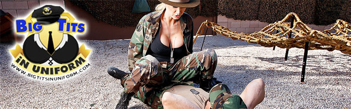 Blake Rose orders the soldier to drill her in the ass. Click Here to watch the full scene at Big Tits In Uniform now!