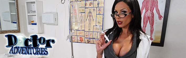 Kirsten Price sucks her patient's cock to relieve his pain. Click Here to watch the full scene at Doctor Adventures now!