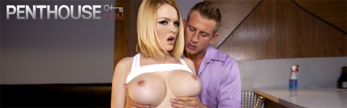 Krissy Lynn makes him jizz all over her fine tits. Click Here to watch the full scene at Penthouse now!