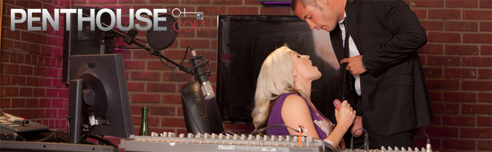 Nikki Phoenix sucking and fucking the radio host live on air. Click Here to watch the full scene at Penthouse now!