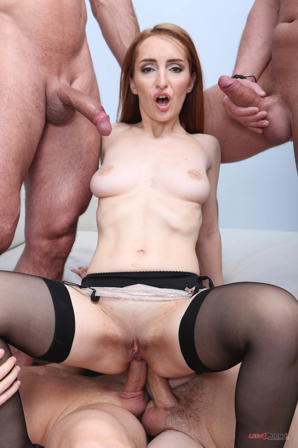 Di Devi Gets All Pleasure Holes Gangbanged By Four Studs-4051