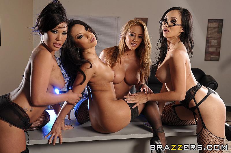 Asa Akira James Deen Threesome