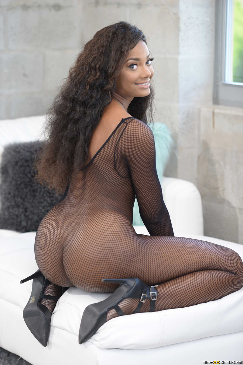 Peyton Sweet gets asspounded through her ripped fishnet bodysuit: www.porn-star.com/peyton_sweet/sex.html