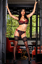 Idelsy seduces you in posh lingerie and high heels from Twisty's