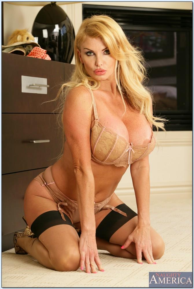 blonde fake tits pornstar