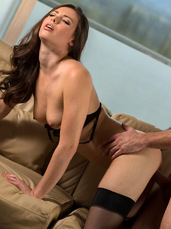 Casey Calvert making love to her boyfriend after dinner