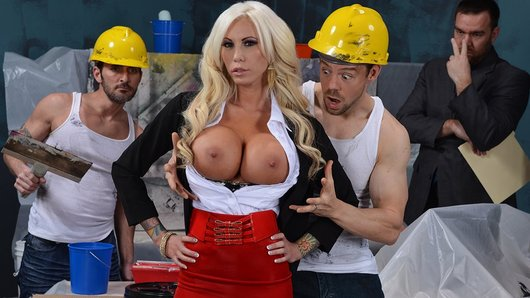 Lolly Ink's office is under renovation, and she can't drop by without the asshole construction workers harassing her nonstop. After her boss threatens to fire them, she notices that Erik is more focused on his hammering than her tits, and decides that she not only misses his rude comments, she wants him hammering her instead!