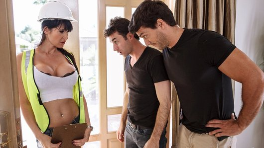 Ramon and James are watching the big game when the power goes out! They freak out and call the power company asap, but when sexy technician Eva Karera arrives and tells them fixing it will involve more than she thinks, they're willing to do anything. Luckily all Eva requires to finish the job is a little double penetration, and the boys are happy to help!