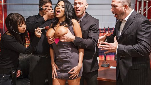 Johnny's got the number one late night talk-show in town, but recently he's been in a bit of a ratings slump. He brings on super-hot porn star Missy Martinez to try and shake things up. When that still doesn't please his bosses, he decides to go out in style by banging his hot guest right there on live TV.