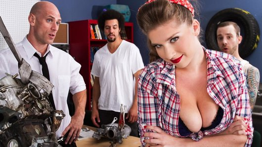 None of the guys in Auto Shop class can handle how well Alex Chance knows cars. But she turns the tables on those losers and impresses everyone, including the teacher Mr. Sins. He finds his new student so fucking hot, he keeps her after class to get to know her a little better.
