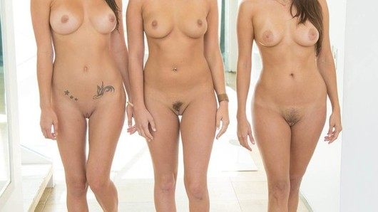 Teal Conrad, Celeste Star and Malena Morgan were hanging out in the pool looking super hot in their bikinis. They began comparing their tan lines on their sweet tits. Once they were all topless, they began grabbing each other's succulent boobs and kissing each other. Teal submerged under the water and began licking Malena's sweet pussy. She held her breath while eating that wet slit. The action continued inside where they all licked each other's pussies and asses. Teal and Celeste licked Malena's ass and pussy at the same time. It was a great day living together.