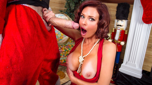 'Twas the night before Christmas, and all through the house, Veronica Avluv was missing her spouse. Her big tits were stuffed in her tight dress with care, in hopes that a big dicked stud soon would be there. When a robber came down through the chimney that night, she sucked his big dick by the Christmas tree's light. This busty housewife was truly perverted, so he fucked her wet pussy until the thing squirted! He then fucked her hard in her tight little ass, and gave her a facial that she licked up fast!