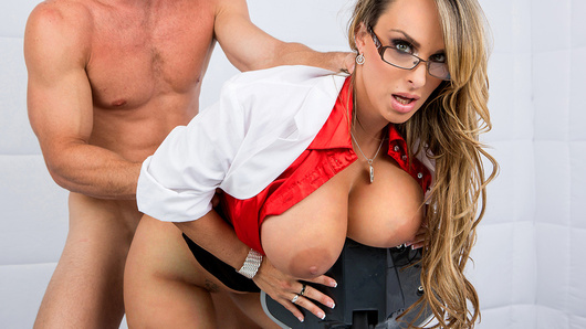 Holly Halston got called in to the local maximum security lockdown to give infamous criminal Johnny Sins a checkup. Once she gave him a quick once-over, she quickly discovered the problem: a massive spunk build-up! So Holly did what any responsible medical professional would have done and started stroking and sucking his big cock! To clear a jizz build up like Johnny's, you've got to make sure he cums extra hard, so Holly treated that dick right, deepthroating it, riding it hard, and then taking a huge load of jizz all over her face, tits, and glasses!
