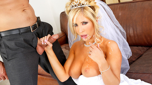 It's Tasha Reign's wedding day. She's got a little bit of cold feet though because she realizes that she will never be able to fuck anyone else for the rest of her life. Luckily, her fiances's best man, Ryan, is there to help her out. Ryan and Tasha actually dated a while back. Tasha decides that she needs one last fling before the vows and, given their history, Ryan would be the perfect person to do it with. Ryan is reluctant as he is her fiance's best man, but the bride always gets what she wants on her wedding day.