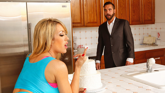 Capri Cavanni is being naughty and sneaking off to try the wedding cake before the ceremony. While she craves sweets, she craves cock even more, and Daniel Hunter is more than willing to give her a hard pounding and getting his special icing in her mouth.