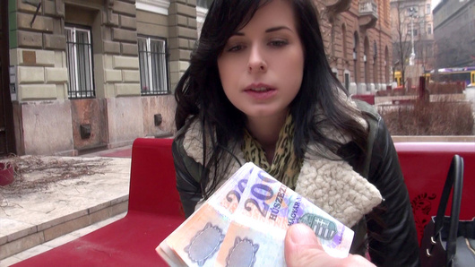 Works every time! Dude hits the streets of Prague with smooth lines to talk biddies into wetting down his dick. He seduced this gorgeous Czech slut Daniella Rose into bailing on her work to smooch on his bone and get fucked for a fat stack of cash.