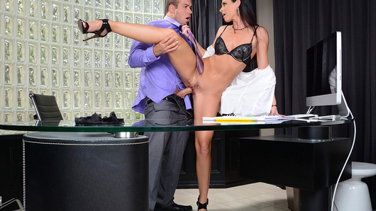 India Summer is Chad's financial adviser. She's very upset that he let his ex run away with all his money, mostly because if Chad has no money, then India won't get paid. Chad is willing to do anything to pay India back for her services, so India puts him to work... on her pussy! She makes Chad fuck his debt off.