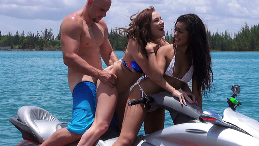 Eva Saldana in Teens Ride the Party Boat