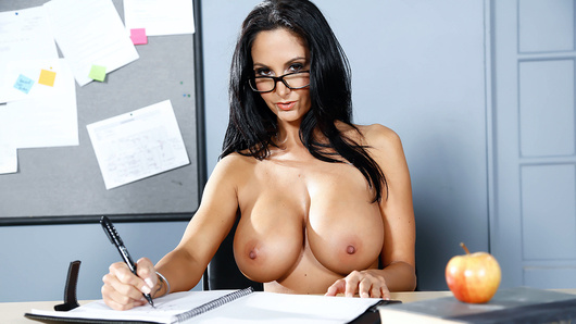 Van Wylde accidentally groped a classmate's tit, and now her boyfriend is looking to kick his ass after school! One of Van's buddies has a plan to keep him in one piece, though... get a detention! Van does his best to get held after class, talking dirty to the teacher, busty MILF Miss Ava Addams, until she dismisses everyone in the class but him. Ava is so turned on by his attitude that she lets him worship her big tits and gives him a nice sloppy face-fucking. She bends over one of the classroom desks, and Van fucks her wet MILF pussy until her legs are shaking from cumming so hard, and then he unleashes a big facial cumshot all over his teacher's pretty face!