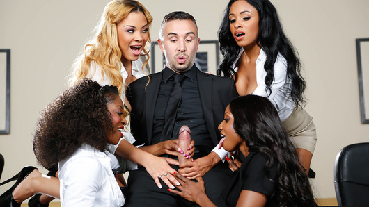 Diamond Jackson in Office 4-Play VII: Ebony Babes