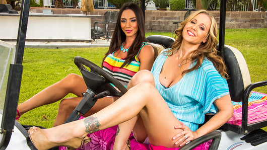 Ariella Ferrera and Julia Ann are taking a break from their husbands and taking a girls only vacation. They decide to have some fun away from hubby and pick up a random dude to fulfill their naughty needs.