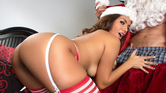 After getting his butt whooped, Santa asks three guys, Tom, Dick and Harry to save Christmas by using his magical suit. The suit has the power to teleport anywhere, deliver presents and more. The men agree to help. Isabella De Santos and Tommy Gunn star in Dirty Santa - Episode 1 - Fucking Around the Christmas Tree.