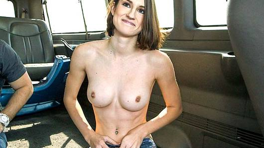 Here at Bangbus HQ, we are all about helping out the ladies... helping them get FUCKED AND TOSSED ON THE SIDE OF THE ROAD THAT IS!!! Hahaaaa! We creep up on the come up, and find ourselves a fine piece of pussy in distress once again. Her name is Ayn Marie, and she needed some help getting her car bumper fixed or some sort of bullshit like that. We roll with it, just like we always do... and before she knows it she is getting money thrown at her face and dick in her mouth! Hell yeah! This petite sweetie had the tightest lil pink gash I've ever seen. Goddamn I loved watching those perky natural tits of hers bounce up and down as she was drilled hard with raw dong! Hardcore amateur chicks getting railed by a bunch of Miami scumbags aka BANG FUCKING BUS BITCHES! YEAGH!!!;Tags;Amateur, Big Natural Tits, Blowjob, Brunette, Cumshot, Facial, Handjob, Hardcore, Natural Tits, White