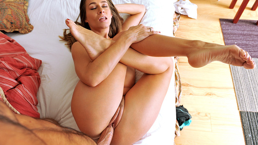 What could be better than waking up to a dirty blowjob from your smokin' hot girlfriend? The lucky bastard in this amateur sex tape had a super-hot morning with his hot girlfriend Cassidy Klein. She sucked his cock and then rode him reverse cowgirl with that big thick booty!