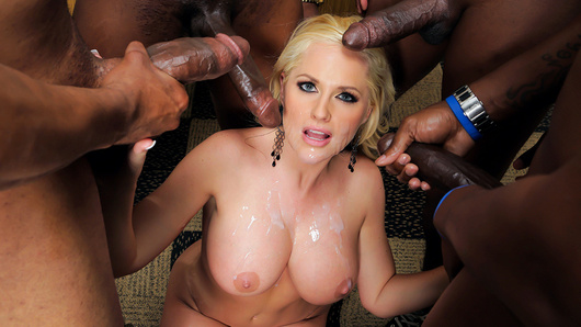 Alena Croft in City School Gangbang