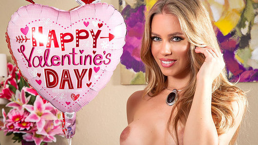 Happy Valentine's Day! Nicole Aniston is surprised by her husband with your standard Valentine gifts, chocolates, balloons, and rose pedals. But what she has for him, is some sexy lingerie and a fuck session he'll never forget!