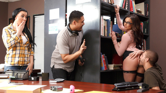 It was just pure luck that Xander Corvus got the inside scoop of how librarian Kendra's Lust passes the time during her shifts. After discovering Kendra with her legs spread and a vibrator humming away on her clit, Xander decided to dive in there with his tongue and help out. Xander ate that pussy like a starving man, licking her hole and clit, and then thrusting in and out with the vibrator. When they had to stop, that Milf Kendra followed Xander to the shelves, to throw the whole of his cock down her throat. Did anyone in the library overhear Kendra moaning with pleasure as Xander pounded her, or the sound of his balls tapping against her ass with every thrust? Check this wicked public sex scene to find out!