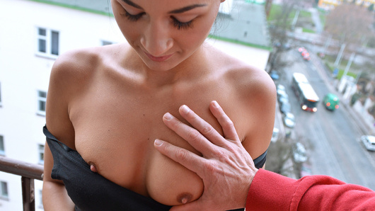 Keira Albina (a.k.a. Adela Albina, Rosaline Rosa) is on the market for extra work, and thanks to a handsome stranger, she's discovered just how willing she is to flash her perky tits, suck hard cock, and get her wet pussy fucked balls deep until she's covered in cum!