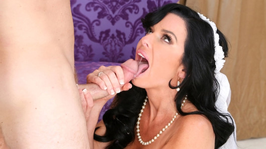 Veronica Avluv arrived in a rush. She was in pre-wedding panic mode. Veronica was so freaked out about the big day, she forgot to wear her clothes. She somehow made it from the store through whatever parking lot to our house. Veronica was needing a real good last fuck. She was one special girl. Veronica could fuck, and we mean fuck like nobody's business. Whoever was going to marry this hot MILF was going to have one hell of a time settling her down. She pulled out Levi's cock and gave it an ultimate massage with her face. After giving him an extra slippery blowjob, Levi bent her over the nearest piece of furniture, and her pussy went into ludicrous speed mode. She squirted everywhere multiple times. Veronica was so freaky for the dick. We couldn't begin to image what she was going to do on her honeymoon. We could only hope she wanted more cock before the big day because we wanted to see even more from this bride to be.