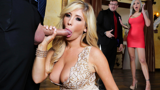 Tasha Reign always gets what she wants, especially when it comes to finding her dream home. The place may be out of her price range, but it'll take a lot more than that to stop such a fine and filthy porn star! And lucky for her, the real estate agent happens to be a huge fan... Recognizing her instantly, he assures her that the price can be negotiated, depending how bad she wants it. Eager to prove she's a desirable buyer, Tasha shows her assets by jerking and sucking a banana. She offers to play with his own forbidden fruit instead, and after a pants-tightening performance like that, how could he say no? She makes his pervy porn dreams cum true, sucking and fucking her way to a steamy hot facial!