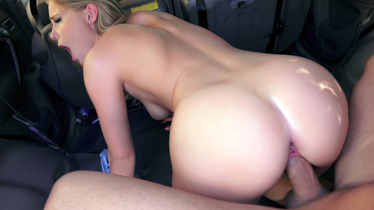 After getting kicked out of her boyfriend's house, Staci Carr convinces a nerdy dude to give her a lift. To thank him, this sexy slut blows her savior's cock while he tries to keep his eyes on the road. He pulls over to fuck her 'til he cums on her sweet lips.