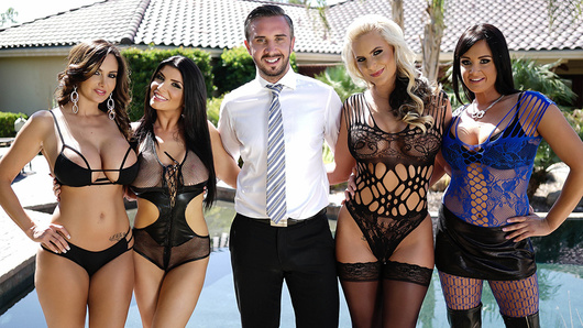 Welcome to the Brazzers House Sex Challenge! In this episode it's every slut for herself as Ava Addams, Phoenix Marie, Tory Lane and Romi Rain must each bang their way through four unique fuck rooms. With every room having it's own set of rules and restrictions, it will be up to our final four contestants to bust out all their special sex skills if they want to come out on top!