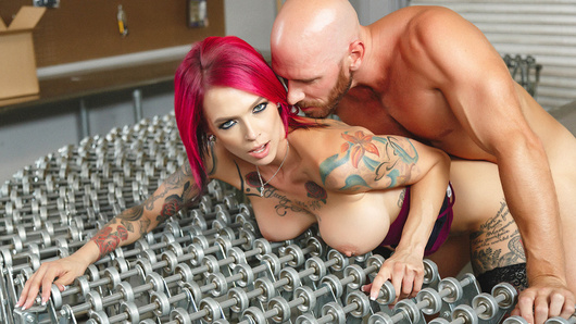 All the guys in the warehouse think that Anna Bell Peaks is just an uptight bitch of a boss who is all work and no play. They couldn't be more wrong... Not only does Anna get off on bossing them around, she gets off on getting railed by their foreman Johnny right behind their backs!