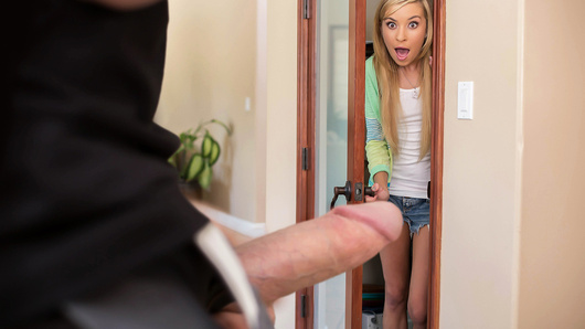 On a dare, Kylie Nicole breaks into neighborhood tough guy Jordan Ash's house. But when Jordan comes home and busts her hiding in his pantry, he gives her the fucking she so richly desires!