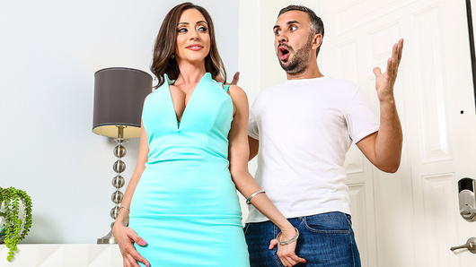 Ariella Ferrera is a horny MILF who wants nothing more than her video game addicted son to leave the house so she can call in a male escort to fuck her brains out. It's clear, Ariella wants it bad! Only problem is that Keiran Lee, her son's friend, shows up once she's got the house to herself, and Ariella has him mistaken for her hot date! Watch as Keiran becomes the luckiest guy to be able to play with Ariella's jumbo tits and fuck her right in the cherry pie!