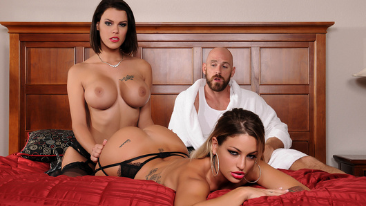 Two of the hottest starlets in porn, Kissa Sins and Peta Jensen, showcase their assets in Heavenly Bodies. Kissa and Peta suck and fuck the luckiest man in porn, Johnny Sins. With Peta's plump tits and Kissa's juicy ass, it's an amazing and heavenly threesome you won't want to miss!