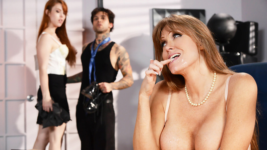 Gwen Stark wants to get her boyfriend Small Hands a job at her stepmom Darla Crane's prestigious law firm. The only problem is that he has no experience and even less education. Luckily Gwen knows that her stepmom is a horny milf who has a thing for young dudes.