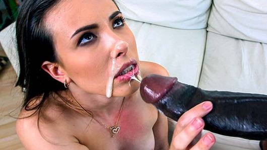 Casey Calvert uses a dating app to find a good cock to please her. She ends up coming across Rico Strong's profile and decides to send him a message, which led to her masturbating before he comes to the rescue. She got more than what she was expecting once she pulls out the monster and gives it a sucking and fucking. She ends up taking the hard cock in various positions and in her ass until he ends up creaming her pretty face!
