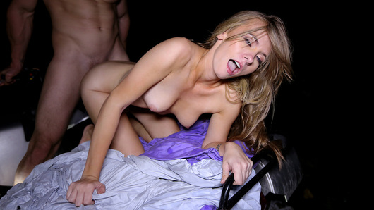 Fucking a dude on an ATV in the rain has got to be as wild as it gets, and Kaylee Jewel is totally down! This tight horny blonde looks as fine straddling a 4X4 as she does straddling her mans dick, and she looks even better when she's covered in cum!