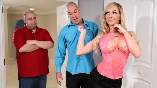 Destiny Dixon is ready to settle the score with her cheating husband. She caught the doofus eating another woman's pussy, so now he has agreed to watch her suck a stranger's cock! But once Destiny gets blowing, she can't help but want the big dick in her pussy too. Her husband screams foul, but Destiny's couldn't care less about what's fair, she just wants to get fucked!