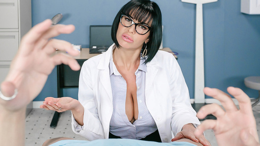 Dr. Veronica Avluv is a true professional who likes to get intimate with her patients. When a young man has trouble staying hard, she has no trouble taking a hands-on approach. Her dirty mind, big tits and pretty face are all it takes to keep his cock nice and hard for her tight pussy. Watch from his point of view as Dr. Avluv gives him the special treatment!