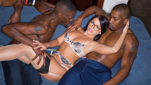 Adriana Chechik in Brunette Babe Takes Trio of BBCs